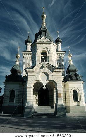 Church with a beautiful blue sky