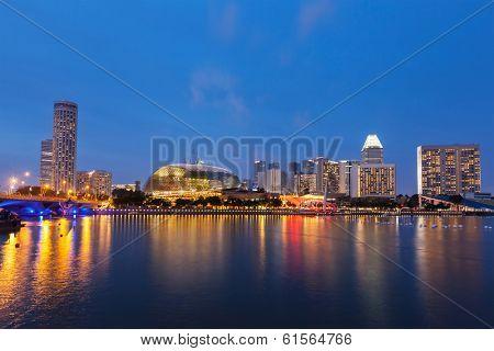 Singapore cityscape skyline night view
