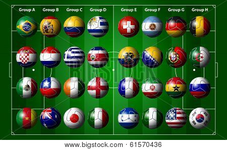 Soccer Ball With Flags, Brazil