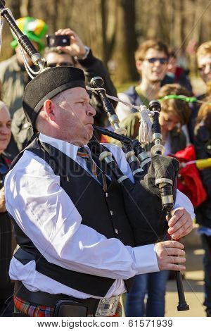 Senior Irish Bagpiper