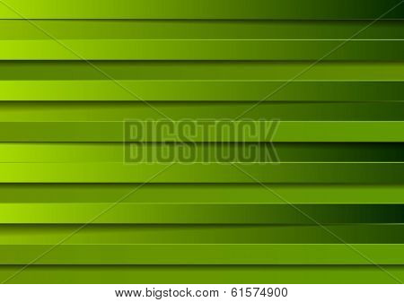 Bright green vector stripes background