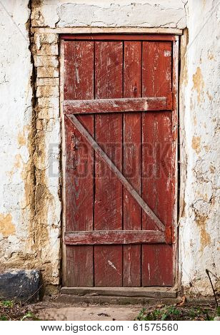 Old wooden plank vintage door