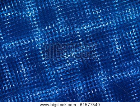 Blue fluted glass as background