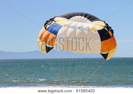 Parasailing in Mexico.