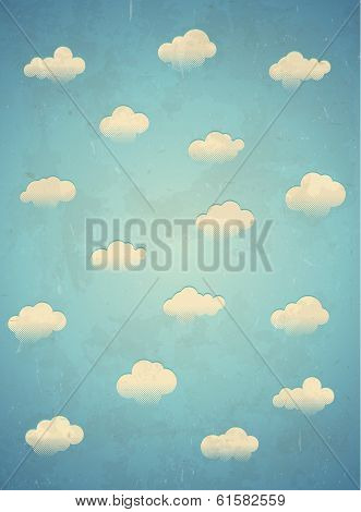 Clouds in the sky. Vertical card