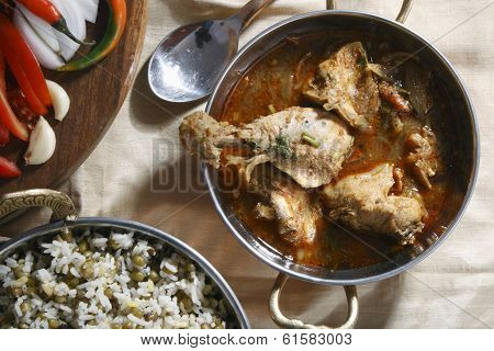 Chettinad chicken preparation from India