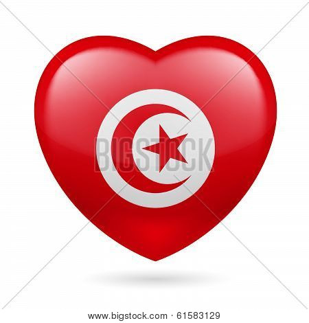 Heart icon of Tunisia