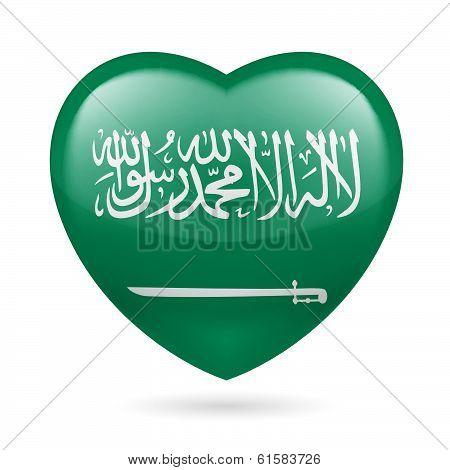 Heart icon of Saudi Arabia