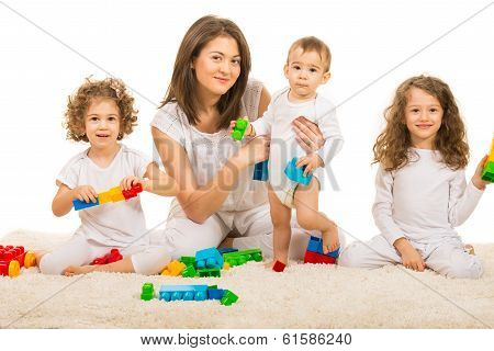 Happy Family Playing Home