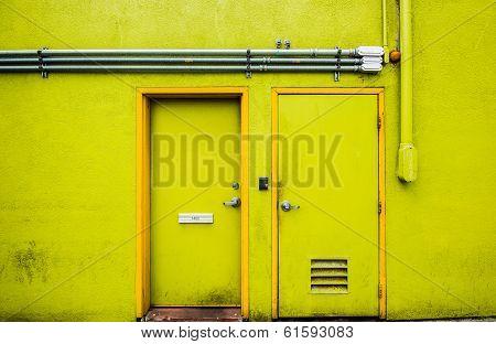 The yellow rear door