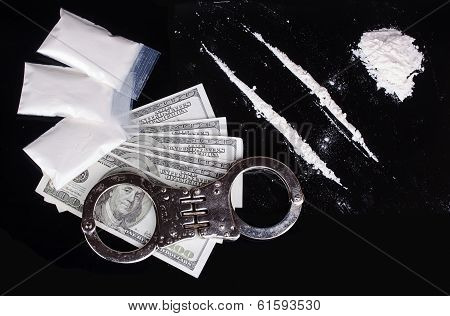 Cocaine And Handcuffs