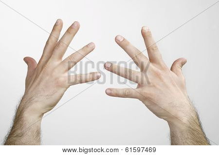 Man Hands Isolated
