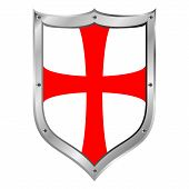 foto of templar  - Knights Templar shield isolated on white background - JPG