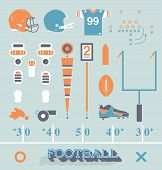 stock photo of thighs  - Collection of retro style football equipment icons and symbols - JPG
