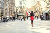 stock photo of walking away  - Barcelona - JPG