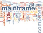 foto of supercomputer  - Word cloud concept illustration of mainframe computer - JPG