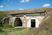 foto of azov  - Ruins ancient old securely fastened and hidden military fort - JPG
