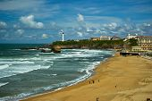 foto of basque country  - Beautiful sky over the town of Biarritz - JPG