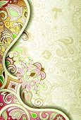 picture of swirly  - Illustration of abstract floral background in asia style - JPG