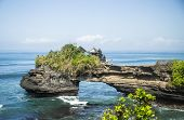 image of tanah  - Coast near Tanah Lot in Bali island  - JPG