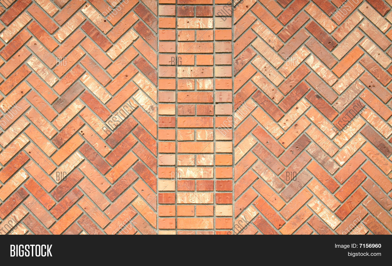 Brick Wall Herringbone Pattern Image amp Photo Bigstock