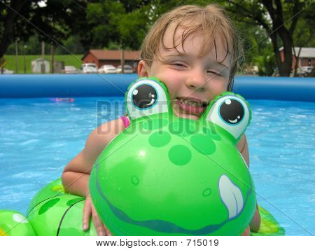 Girl And Froggy Float