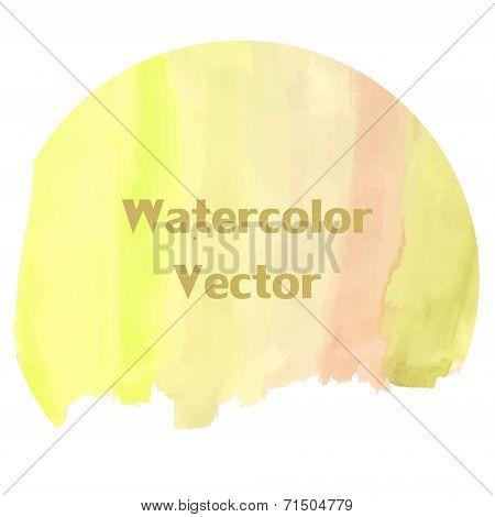 Watercolor Gradation Of Golden Color