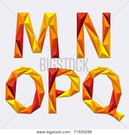 Poligon_orange_yellow_alphabet_m_n_o_p_q