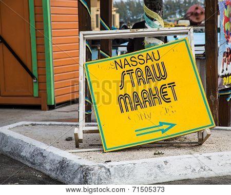 Nassau Straw Market Sign
