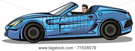 Man In Blue Cabriolet