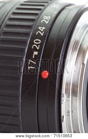 Close - up camera lens detail at focal length