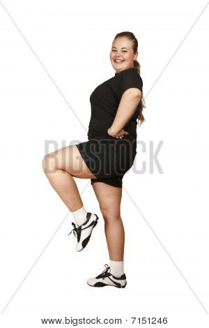 Girl Doing Fitness Exercise