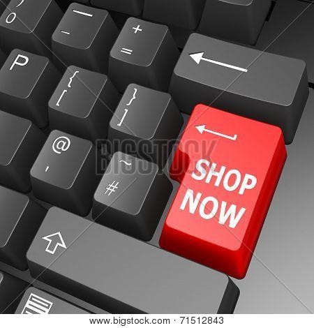 Shop Now Key On Computer Keyboard
