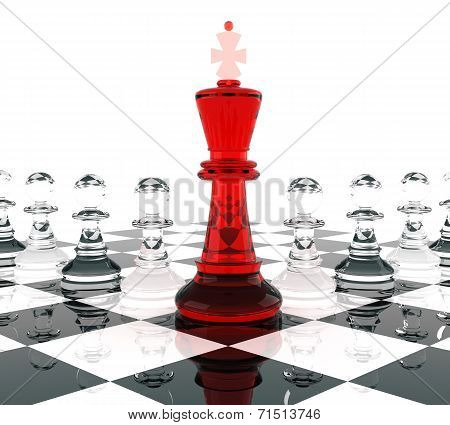 Chess King And Eight Pawn