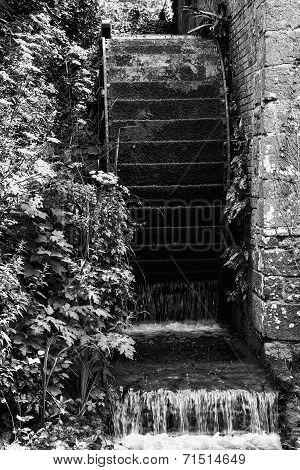 Working Antique Victorian Era Water Mill