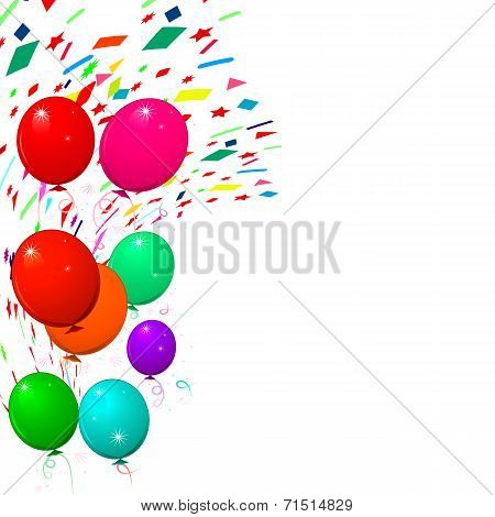 Flying Colorful Balloons