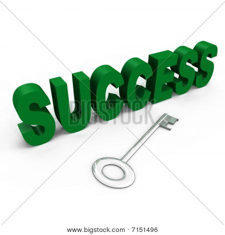 The key to success - a 3d image