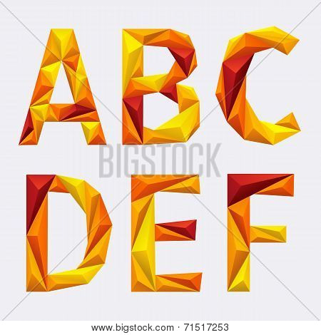 poligon_orange_yellow_alphabet_A_B_C_D_E_F