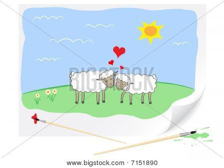 Drawing Love Sheeps