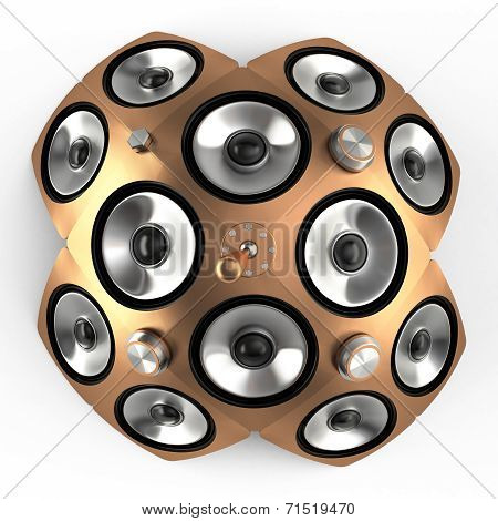Speakers And Toggle Switch, 3D