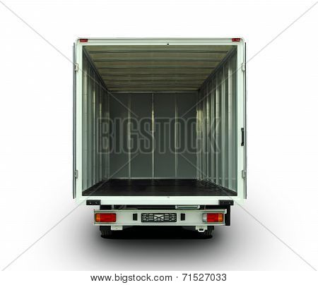 open delivery van