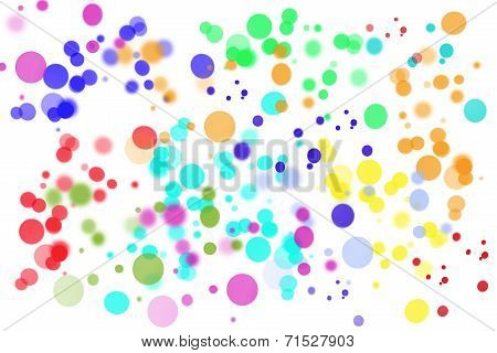 Abstract Bright Circle Background