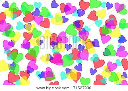 Heart Shapes On White