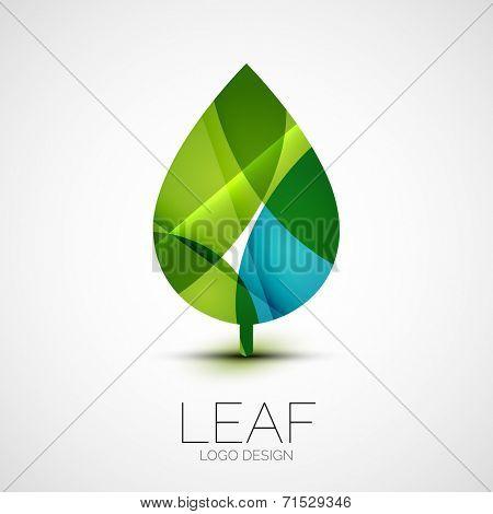 Leaf logo, concept, branding logotype design