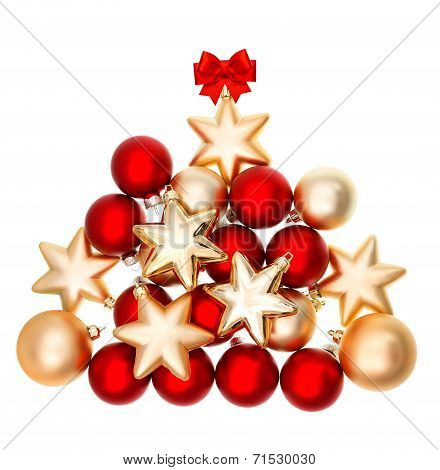 Holidays Decoration With Red And Golden Balls