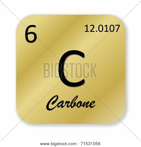 Carbon element, french carbone