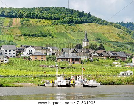Ellenz Poltersdorf Village From Moselle River