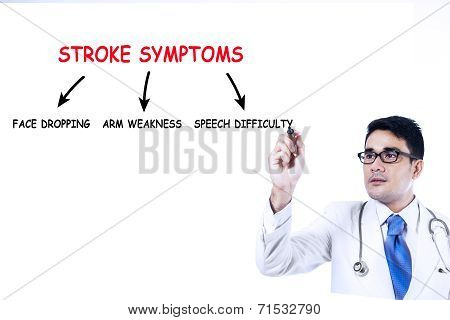 Doctor Writes Stroke Symptoms 1