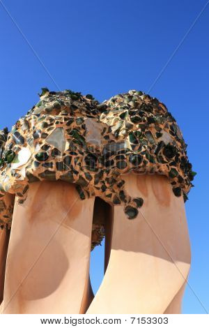 Soldiers Chimneys Anthropomorphic By Gaudi