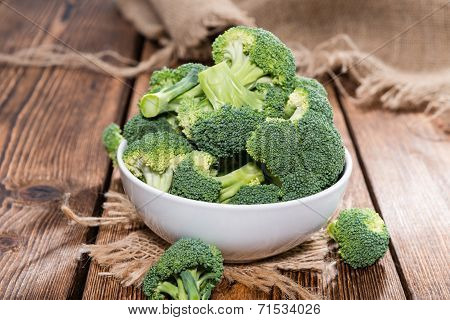 Bowl With Fresh Broccoli
